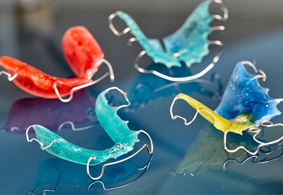 Four types of orthodontic retainers